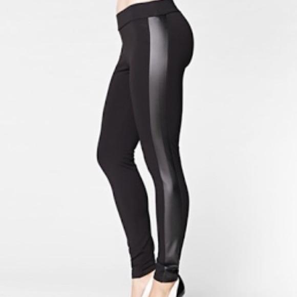 88fd6423 Zara Black Leggings with Faux Leather Side Panels.  M_5a7d07026bf5a6cc4850e65c
